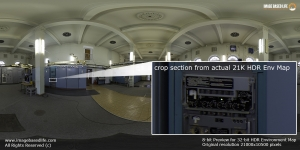 Original resolution crop section from actual 21K HDR Environment  Map
