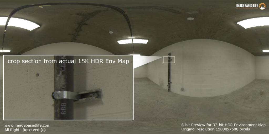 Original resolution crop section from actual 15K HDR Environment  Map